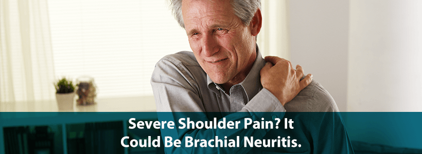 man with sever shoulder pain from brachial neuritis